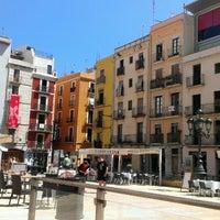 Photo taken at Plaça de la Font by Alexander P. on 6/25/2013