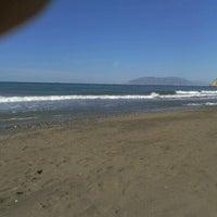Photo taken at Rincón de la Victoria Beach by Ricardo A R. on 7/1/2012
