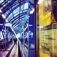 Photo taken at Dresden Hauptbahnhof by Andreas S. on 12/6/2012
