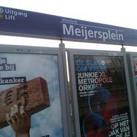 Photo taken at Metrostation Meijersplein by Godwyns O. on 4/19/2013