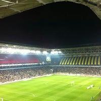 Photo taken at Ülker Stadyumu Fenerbahçe Şükrü Saracoğlu Spor Kompleksi by Ezgi M. on 11/10/2013