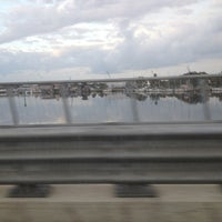 Photo taken at Anclote River Bridge by Zee A. on 1/21/2013