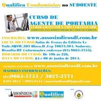Photo taken at Assosíndicos Sudoeste Octogonal by Claudia A. on 6/2/2014