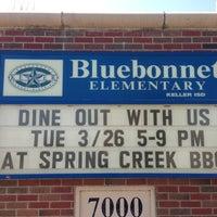 Photo taken at Bluebonnet Elementary by Jeana A. on 3/26/2013
