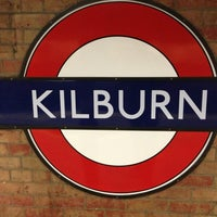Photo taken at Kilburn London Underground Station by Aador S. on 3/2/2013