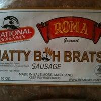 Photo taken at Roma Gourmet Sausage by Naptown . on 1/29/2012