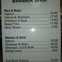 Photo taken at Western Plaza Barber Shop by Leo K. on 10/10/2011