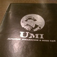 Photo taken at Umi Japanese Steak House & Sushi Bar by Julie N. on 11/8/2011