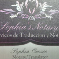 Photo taken at Sophia's Notary by Fia O. on 3/20/2012
