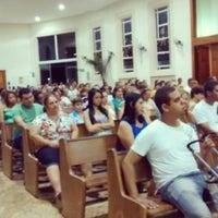 Photo taken at Paróquia Nossa Senhora Aparecida by Lucas F. on 3/3/2014