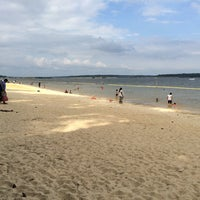 Photo taken at Seaforth Beach by Chang K. on 9/7/2014