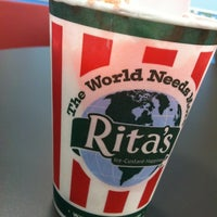 Photo taken at Rita's Ice Custard Happiness by Robert A. on 3/4/2013