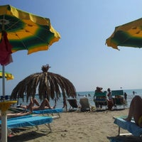 Photo taken at Spiaggia Hotel Corallo by Claudio V. on 8/23/2013