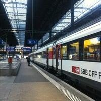 Photo taken at Basel SBB Railway Station by Svetlana T. on 2/5/2013