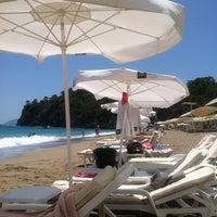 Photo taken at Amara Dolce Vita Beach by Роман Р. on 6/9/2013