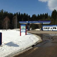 Photo taken at АЗС СУРГУТНЕФТЕГАЗ 68 by Михаил Т. on 4/12/2013