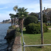 Photo taken at Lungolago di Stresa by Edoardo Z. on 4/2/2013