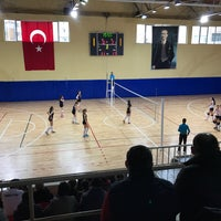 Photo taken at Corlu Kapali Spor Salonu by Mehmet K. on 2/11/2018