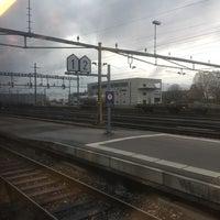 Photo taken at Gare de Delémont by Elina C. on 11/14/2017