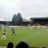 Photo taken at Underhill Stadium by John T. on 4/22/2013