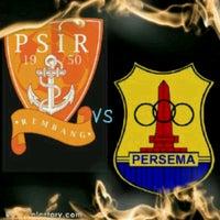 Photo taken at Stadion Krida Rembang by doni p. on 2/26/2013