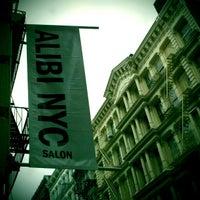 Photo taken at Alibi NYC Salon by Bea A. on 10/28/2012