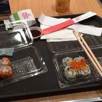 Photo taken at Sushi Kiosk by 杨翼 on 8/18/2016