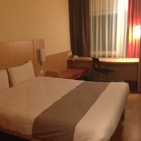 Photo taken at Ibis Kaunas Centre by Виктория П. on 8/14/2013