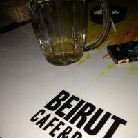 Photo taken at Beirut Cafe & Bar by Duygu S. on 2/16/2013