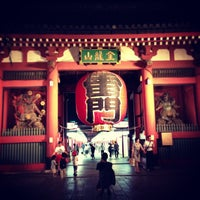Photo taken at Kaminarimon Gate by Masayoshi T. on 6/8/2013