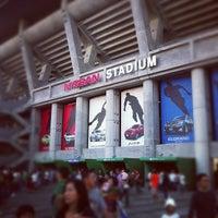 Photo taken at Nissan Stadium by Masayoshi T. on 10/6/2012