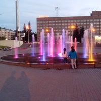 "Photo taken at Фонтан светомузыкальный ""Торнадо"" by Vladimir P. on 8/14/2013"
