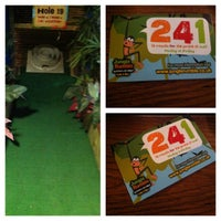 Photo taken at Jungle Rumble Adventure Golf by Alexander M. on 4/14/2013