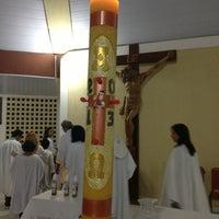Photo taken at Santuário Nossa Senhora do Perpétuo Socorro by Lanuzza L. on 3/31/2013