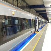 Photo taken at Heathrow Airport Terminals 1, 2 & 3 London Underground Station by Valyuu on 3/1/2013