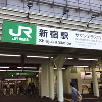 Photo taken at JR Shinjuku Sta. Kohshu-kaido Gate by ossan 9. on 10/31/2013