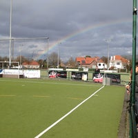 Photo taken at La Gantoise Hockey by Jackie V. on 3/17/2013