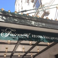 Photo taken at The Fairmont Hotel Vancouver by Mark W. on 5/4/2013