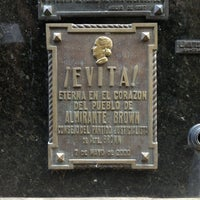 Photo taken at Mausoleo de Eva Perón by Mark W. on 2/18/2013