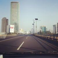 Photo taken at Halte TransJakarta S Parman Podomoro City by Ami R. on 10/15/2013