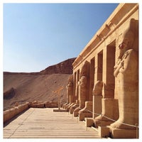Photo taken at Mortuary Temple of Hatshepsut by Yuyu on 1/4/2014