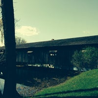 Photo taken at Covered Bridge At Shelburne Museum by Muse 1. on 5/11/2014
