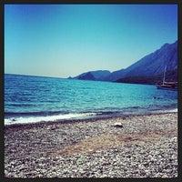 Photo taken at Olympos Plajı by Pinar A. on 6/24/2013