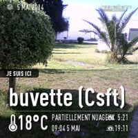 Photo taken at buvette (Csft) by 'Oussema S. on 5/5/2014