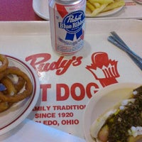 Photo taken at Rudy's Hot Dog by Geni on 5/25/2014