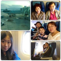 Photo taken at Cathay Pacific Airways( CX692) by CinDy L. on 12/23/2012