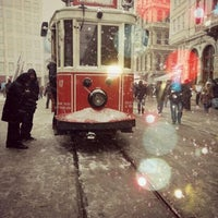 Photo taken at İstiklal Avenue by Pınar D. on 1/29/2013