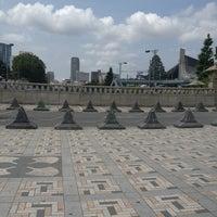 Photo taken at Jingu Bridge by Ryoko N. on 6/30/2013