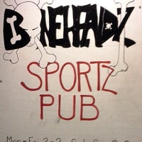 Photo taken at Boneheadz Sports Pub by Andre R. on 1/25/2013