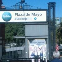 Photo taken at Estación Plaza de Mayo [Línea A] by Ignis T. on 1/21/2013